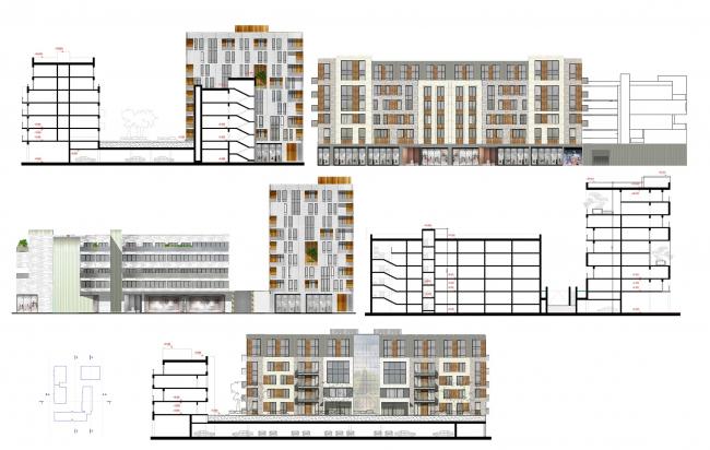 Сечение и фасады © Pole Design
