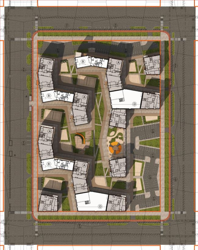 Концепция стандартного жилья для среднеэтажной модели застройки © ООО «Эшер» (Россия)