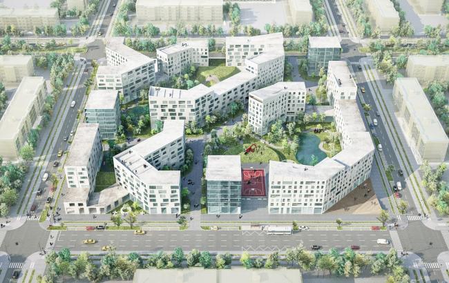 Концепция стандартного жилья для среднеэтажной модели застройки © Boustany – Suphasidh – Desfonds + A2OM (международная команда)