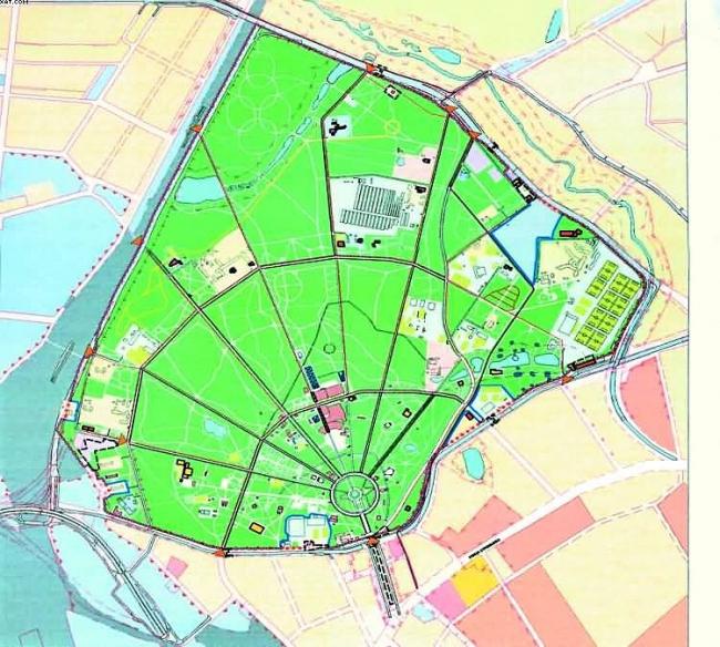 Проект планировки территории парка культуры и отдыха