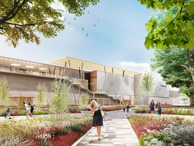 """Golden Babylon Otradnoe"" shopping mall © Blank Architects"