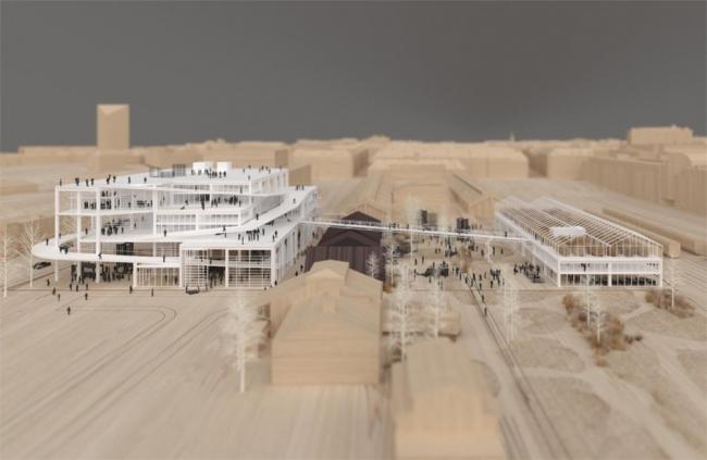New AArch – конкурсный проект новой архитектурной школы в Аархусе, созданный BESSARDs´ Studio © Lacaton Vassal architects