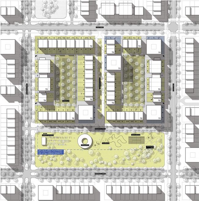 Концепция стандартного жилья для среднеэтажной модели застройки © DO Architects (Литва)