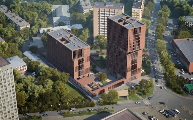 """""""Egodom"""" housing complex © Sergey Skuratov ARCHITECTS"""