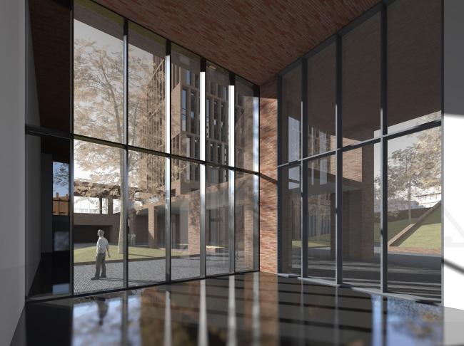 """""""Egodom"""" housing complex. The lobby interior © Sergey Skuratov ARCHITECTS"""