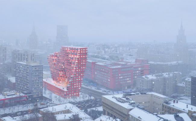 Жилой комплекс «Московский силуэт» © MVRDV
