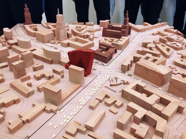 Жилой комплекс RED7 © MVRDV; фотография макета предоставлена APEX