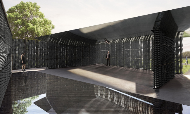 Летний павильон Галерии Серпентайн 2018 © Frida Escobedo, Taller de Arquitectura. Рендеры: Atmósfera