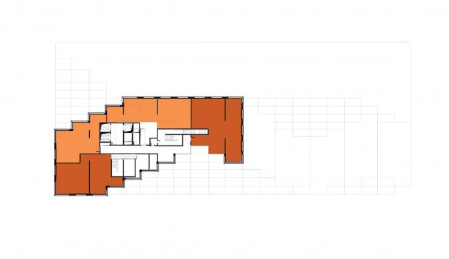Жилой комплекс «Московский силуэт». 20 этаж: апартаменты © MVRDV