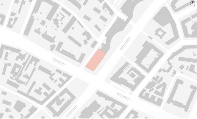 Жилой комплекс «Московский силуэт». Расположение участка © MVRDV