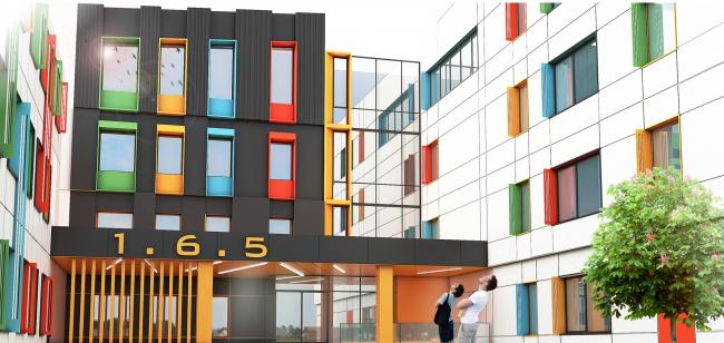 Реконструкция (пристрой) школы №165. Входная группа №1 © Казгражданпроект