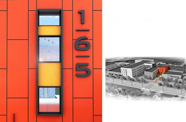 Реконструкция (пристрой) школы №165. Входная группа №2 © Казгражданпроект