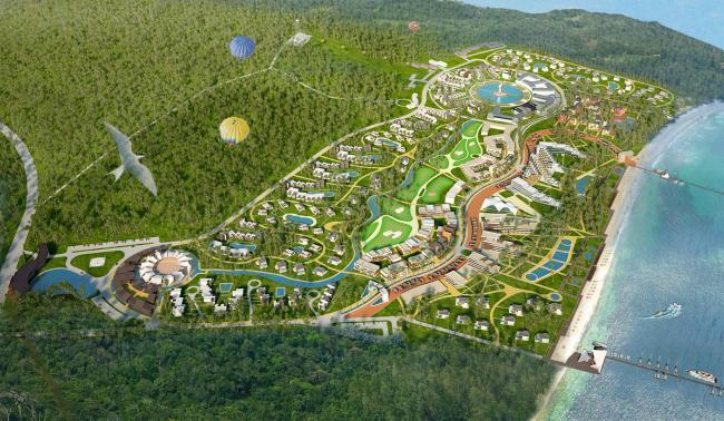 Развитие территории курорта Paradise waters. Общий вид 2 © Архитектуриум