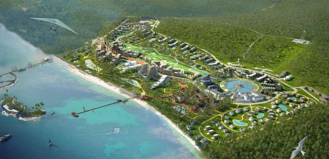 Развитие территории курорта Paradise waters. Общий вид 3 © Архитектуриум