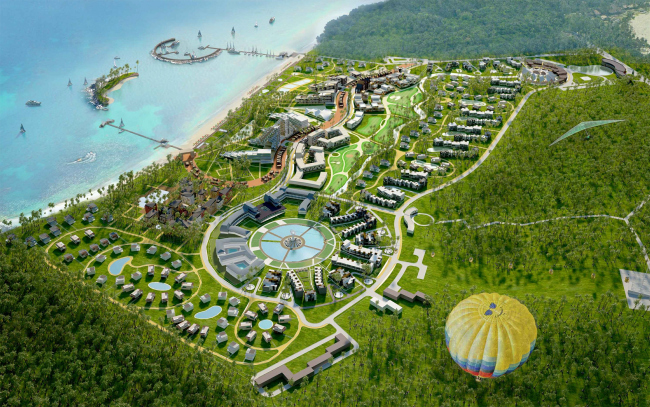 "Development of the territory of ""Paradise Waters"" resort. Overview 4 © Arhitekturium"
