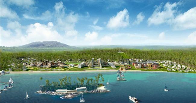 Развитие территории курорта Paradise waters. Общий вид 5 © Архитектуриум