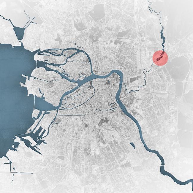 Эскиз застройки территории заводов «Химволокно» и «Пластполимер». Ситуационный план