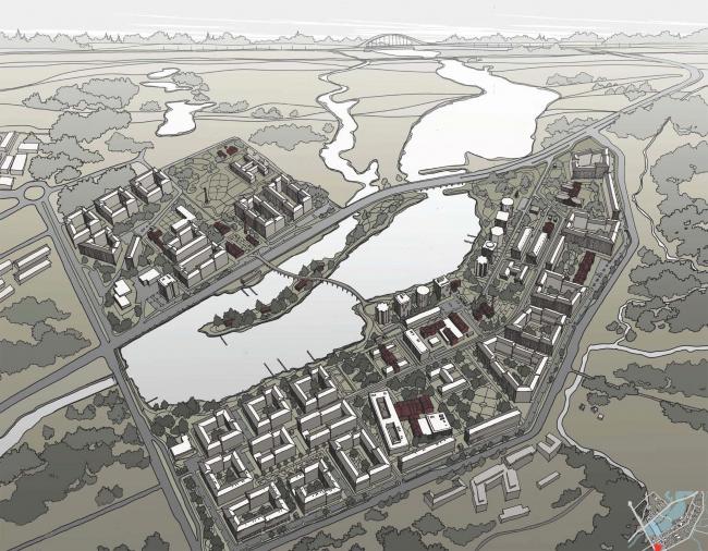 Эскиз застройки территории заводов «Химволокно» и «Пластполимер»