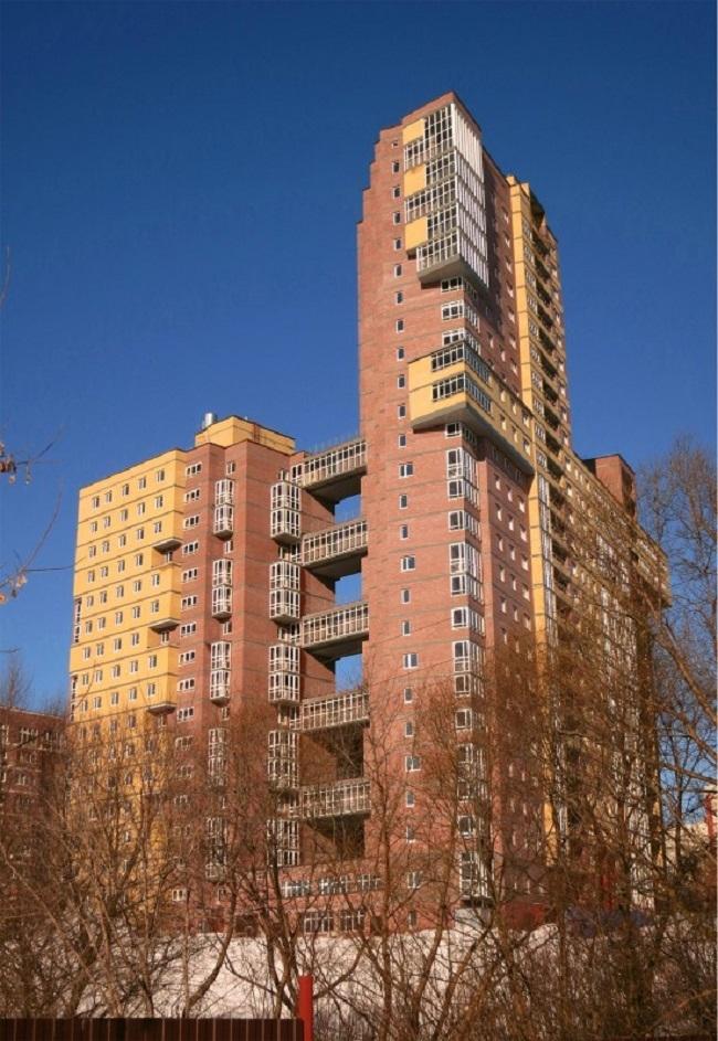 Жилой многоквартирный дом на улице Бориса Панина © архитектор А.А. Худин