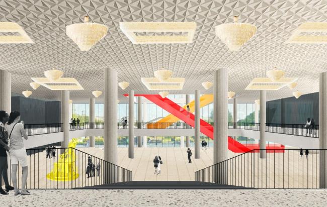Проект реконструкции Третьяковской галереи на Крымском валу © OMA