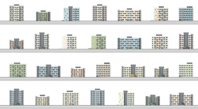 Архитектурно-градостроительная концепция территории жилой застройки в г. Оренбург © АМ Сергей Киселев и Партнеры