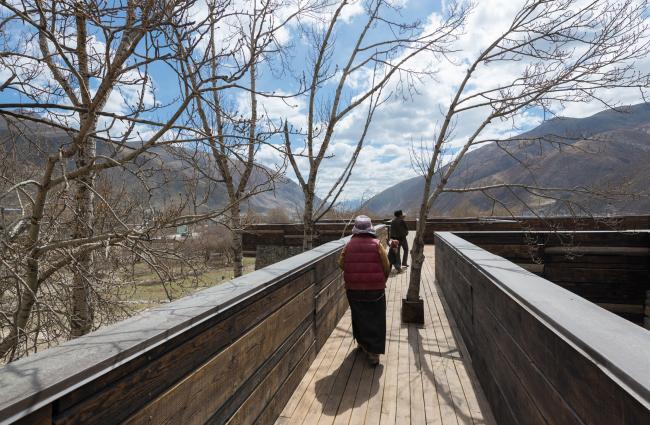 Посетительский центр при священной насыпи Гьянак-мани. Фото © Bu Lai En. Предоставлено Zumtobel Group Award