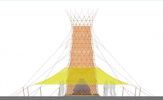 Устройство для сбора дождя, тумана и росы и превращения их в питьевую воду Warka Water © Arturo Vittori / Architecture and Vision. Предоставлено Zumtobel Group Award