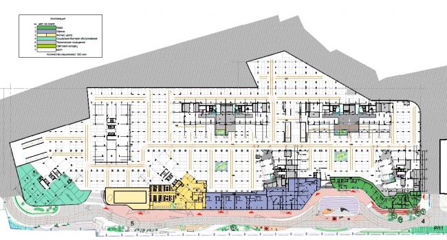 ЖК AQUATORIA. Поэтажные планы. Стилобат. Уровень -2 © ООО «Креаплюс»