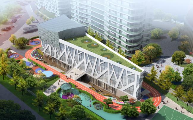 ЖК AQUATORIA. Учебный центр и ДОУ © kraaijvanger architects