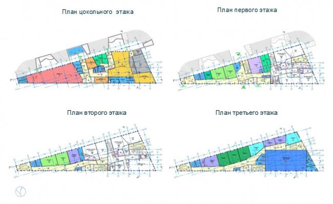 ЖК AQUATORIA. Учебный центр и ДОУ. Планы этажей ©  kraaijvanger architects