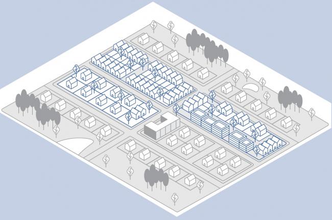 Схема малоэтажной модели в задании © АИЖК + КБ «Стрелка»