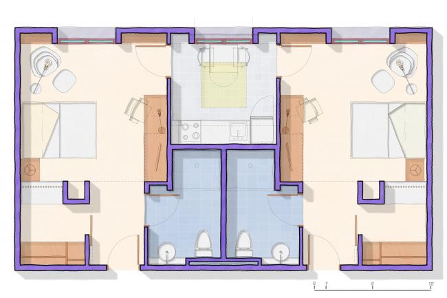 Общежитие Хайленд-холл Стэнфордского университета © Legorreta