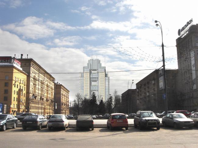 фотомонтаж, вид с Кутузовского проспекта