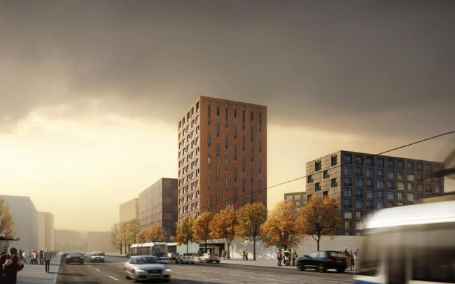 Жилой комплекс на ул. Вавилова, 4 © Цимайло, Ляшенко и Партнеры