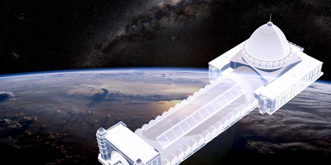 Центр «Космонавтика и Авиация». Здание павильона «Космос» – образ космического корабля © Архитекторы Асс
