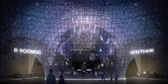 Центр «Космонавтика и Авиация». Вход © Архитекторы Асс