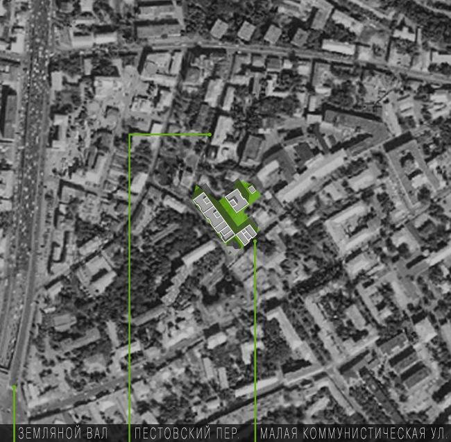 Жилой дом на улице Станиславского. В соавторстве с бюро Джона Мак Аслана. Реализация, 2010. Фотография © Юрий Пальмин