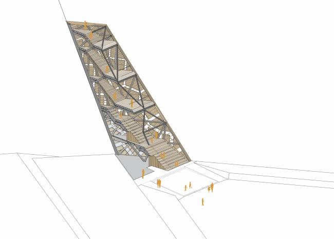 Башня «Помпеюс» в Нидерландах. Изометрическая проекция © RO&AD Architecten