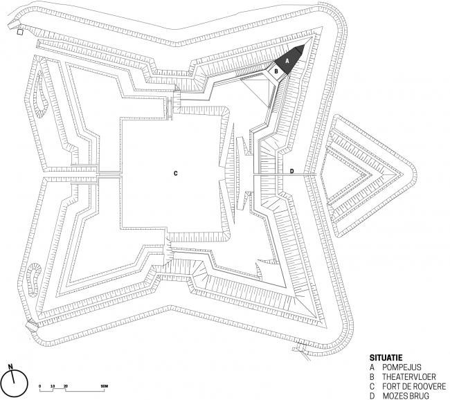 Башня «Помпеюс» в Нидерландах. Ситуационный план © RO&AD Architecten