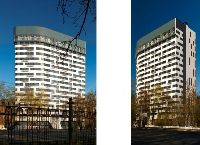 Жилые дома 118 и 122 по проспекту Гагарина.  ТМА Тарасова. Фотография предоставлена организаторами Нижегородского рейтинга архитектуры