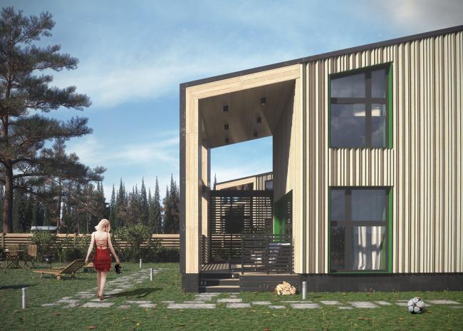 Проект застройки малоэтажными жилыми домами в респ. Карелия © архитектор Рамил Голубев