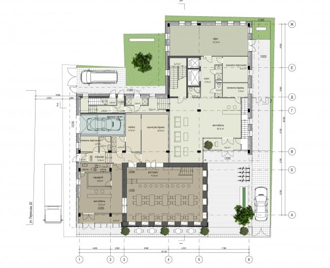 Реконструкция средового объекта и строительство нового офисного здания, г. Пермь © Synchrotecture