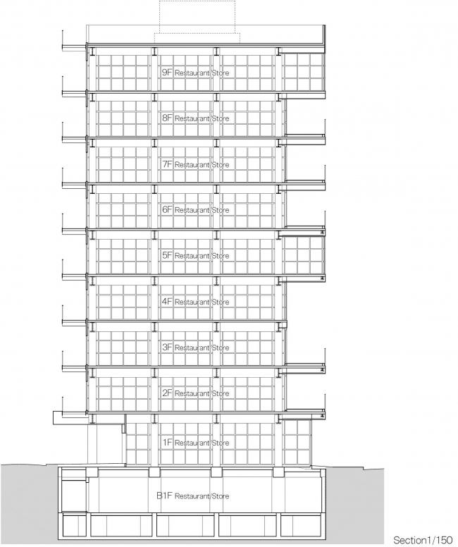 Комплекс ресторанов Kanda Terrace © Akira Koyama + Key Operation Inc. / Architects