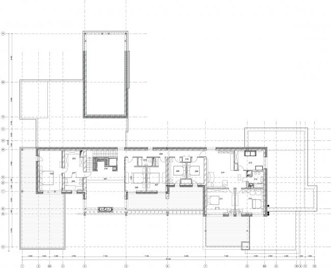 Omega House. План 2 этажа © Архитектурное бюро Романа Леонидова