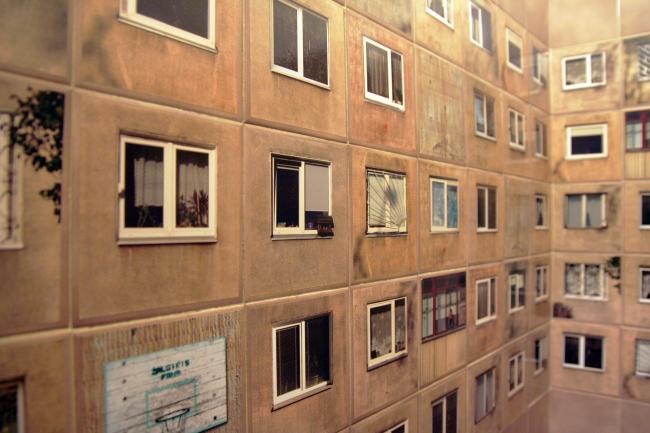Плитка в санузле ресторана Galeria Urbana в Каунасе © Gyva Grafika