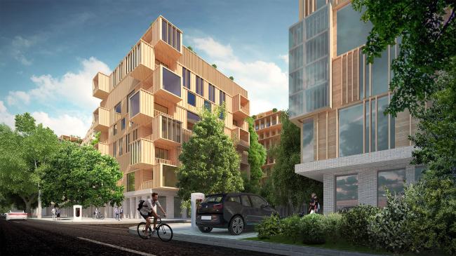 Wood City housing complex © Totan Kuzembaev Architectural Studio
