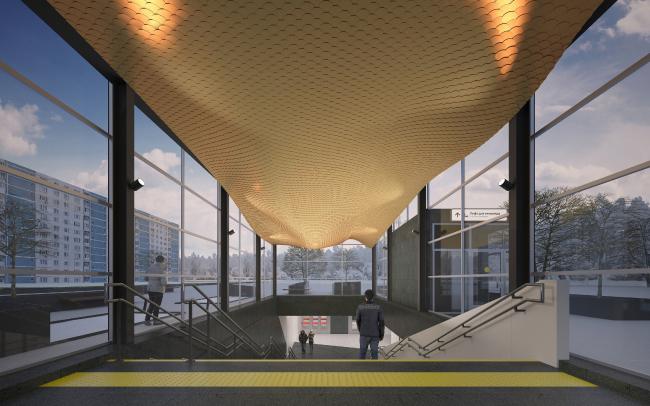 Концепция оформления станции «Нагатинский затон» © za bor