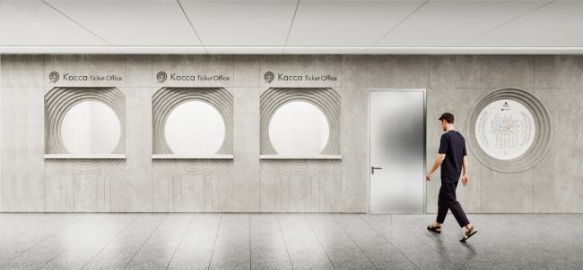 Концепция оформления станции «Нагатинский затон» © IND Architects