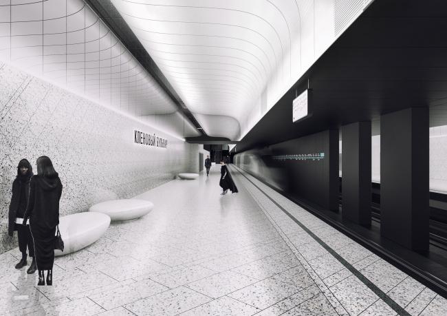 Концепция оформления станции «Кленовый бульвар» © Archslon