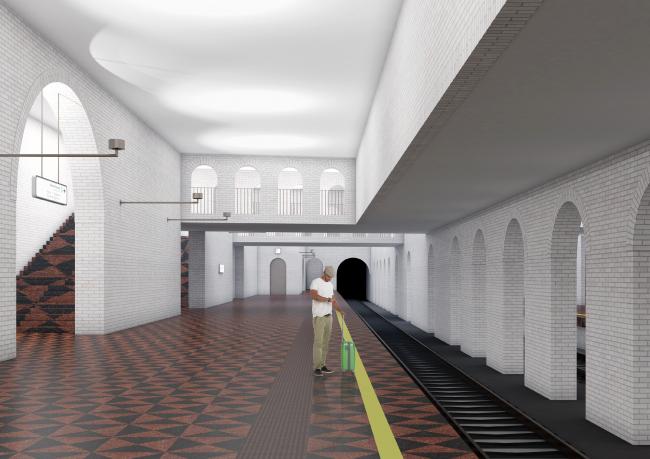 Концепция оформления станции «Кленовый бульвар» © АБ Хвоя + E.S.M.E (Россия – Италия)